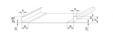 JÖRG Schlebach SPA PAC profileermachine profiel 25 mm vrijloop voor clip detail 3