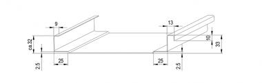 JÖRG Schlebach SPA PAC profileermachine profiel 32 mm vrijloop voor clip detail 4