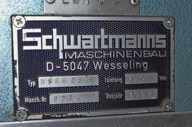 M867 - Elektrische Platenwals Schwartmanns 1500x1.5
