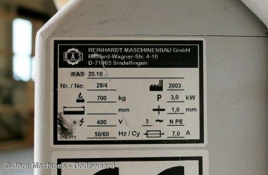M1050 Felssluitmachine RAS 20.10 voor luchtkanalen tot 1 mm plaatdikte