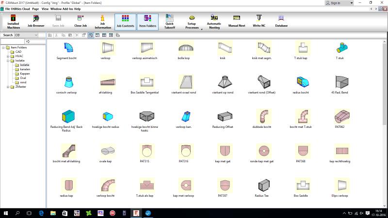 Autodesk Fabrication CAMDuct afbeelding folder 1