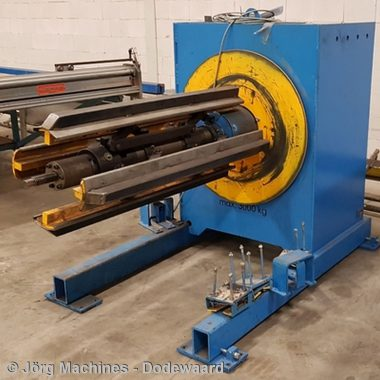 M1204 Decoiler gebruikt - Forstner AG3 - 1500 mm x 3 Ton - 400x400-LR